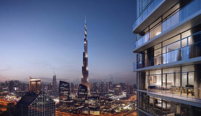 Paramount Tower, Damac, Dubai, Hotels, Luxury, evening, Burg Khalifa